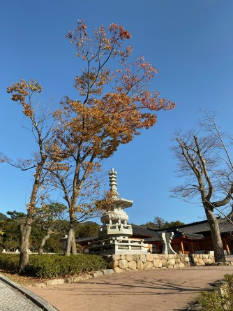 Stupa in Bulguksa Temple during autumn