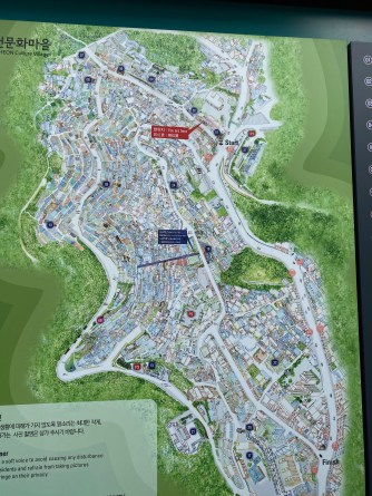Map of Gamcheon Culture Village