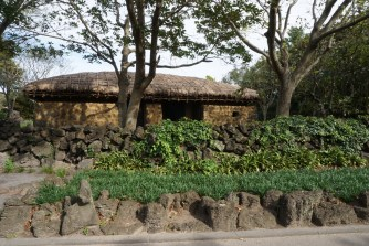 A typical Jejuan house in Jeju Folk Village