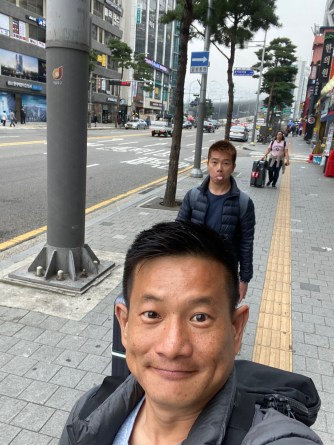 Wefie on the streets of Seoul