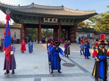 The change of guard ceremony outside Deoksugung Palace