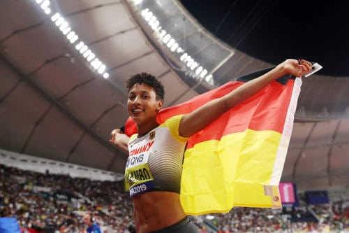 Leichtathletik WM 2019 – Malaika Mihambo – Foto: © Getty Images for IAAF