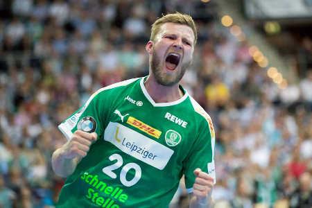 Philipp Weber – SC DHfK Leipzig vs. HC Erlangen – Foto: Karsten Mann