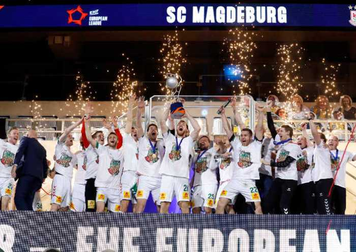 Handball EHF Finals 2021 – SC Magdeburg Sieger – Copyright: EHF/Stephane Pillaud
