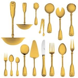 Набор столовых приборов Венус позолоченный на 6 персон (48 предметов) от Цептер
