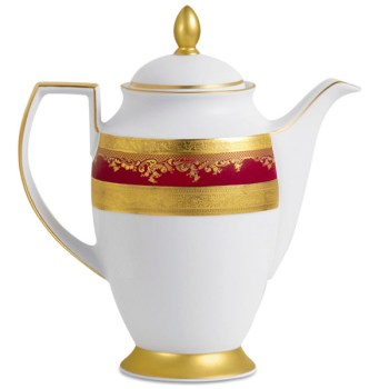 Фарфор Royal Gold - Кофейный Набор 12 Персон Бордо (27 Единиц) от Цептер