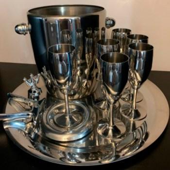 """Набор из 6 шт фужеров для шампанского """"Ла Перле"""" - посеребренный от Цептер"""
