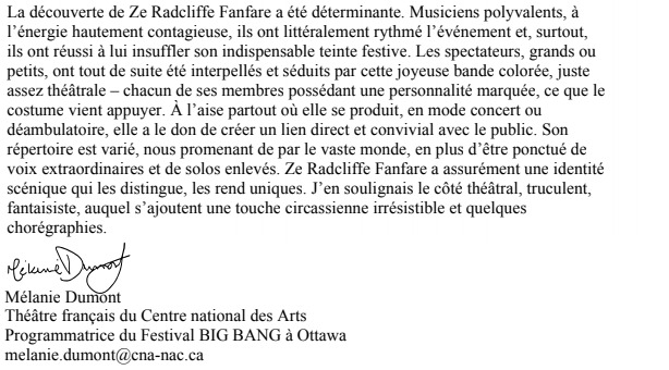 Lettre recom BIG BANG