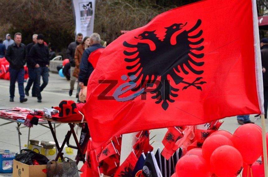 Double-headed eagle, the hearts of Albanians in Kosovo