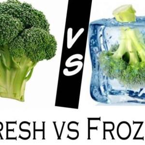 A janë frutat dhe perimet e ngrira po aq të shëndetshme sa ato të freskëta