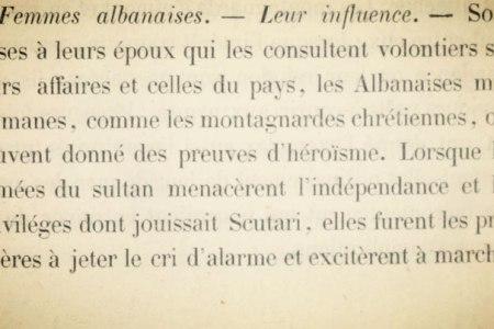 """Konsulli francez në librin e tij (1858) : """"Gratë shqiptare, myslimane e të krishtera, heroina. Influenca e tyre, shumë e rëndësishme në shoqërinë shqiptare"""""""