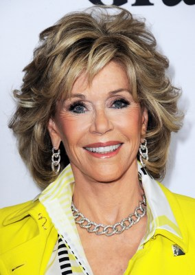 """LOS ANGELES, CA - APRIL 29: Actress Jane Fonda arrives for the Premiere Of Netflix's """"Grace And Frankie"""" held at Regal Cinemas L.A. Live on April 29, 2015 in Los Angeles, California. (Photo by Albert L. Ortega/Getty Images)"""