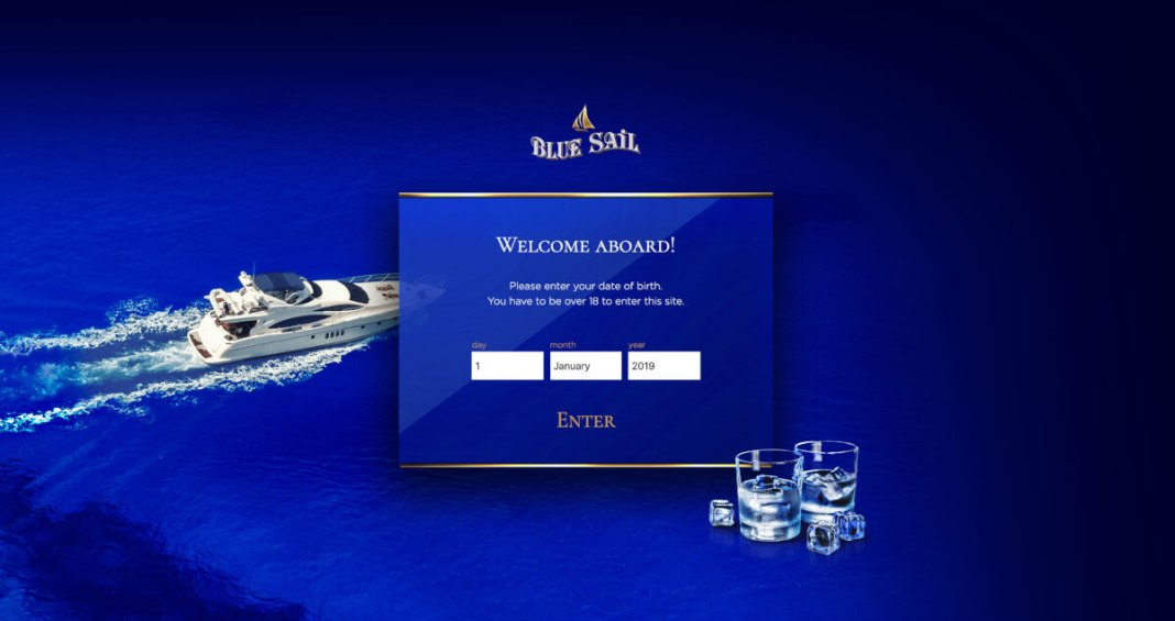 Сайт Blue Sail Vodka