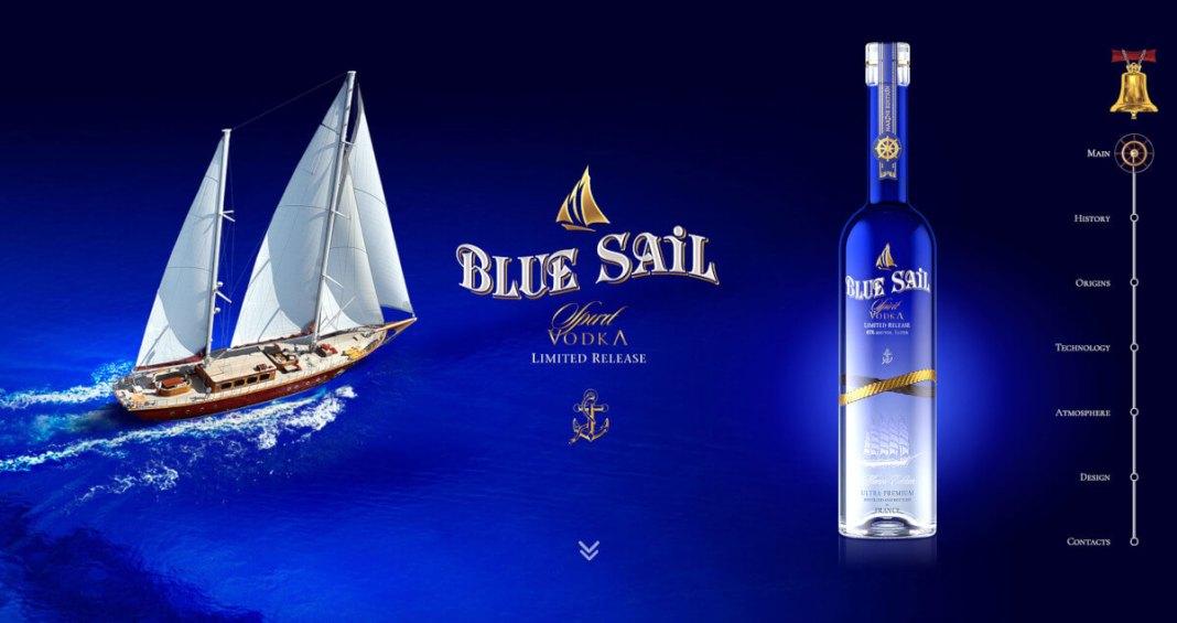 Сайт Blue Sail Vodka