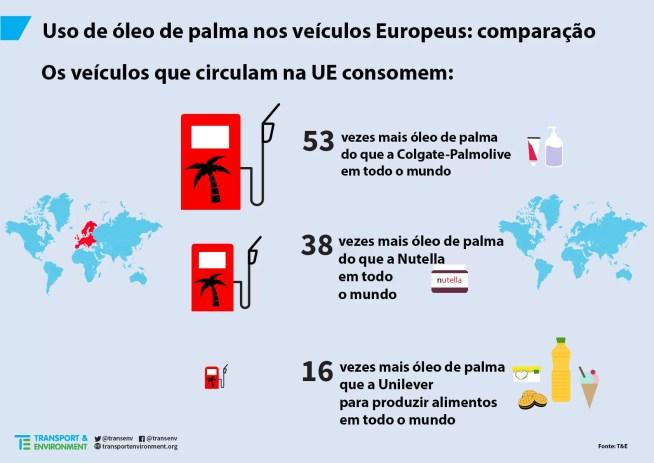 Mais de metade do óleo de palma usado na Europa é consumido como combustível para carros e camiões