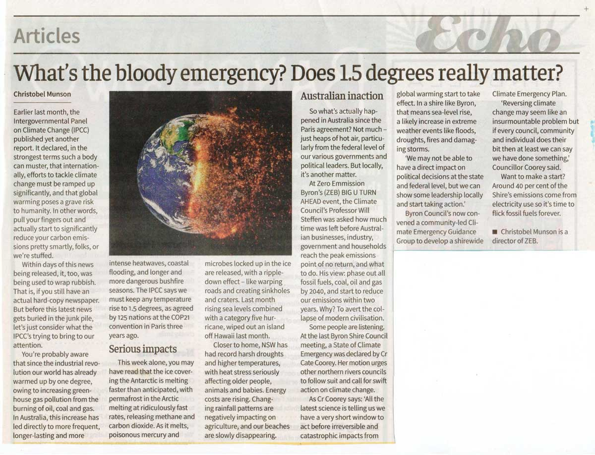 climate emergency article
