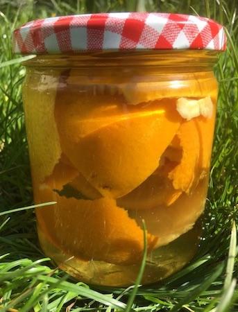 Vinaigre parfumé orange citron