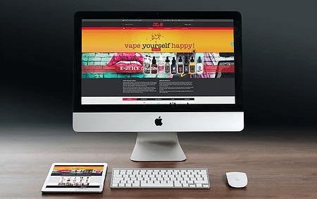 web site design screenshot happydragonvaping.com