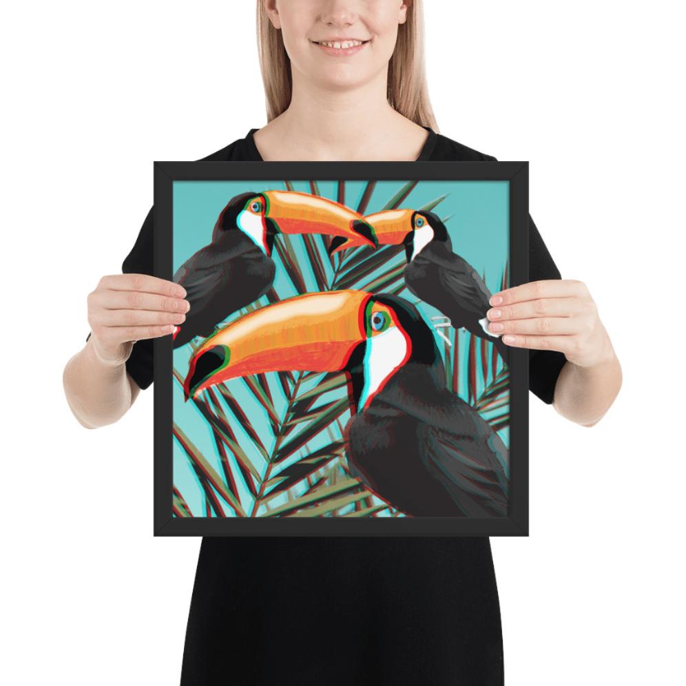 3D toucans AR Art at Hypar