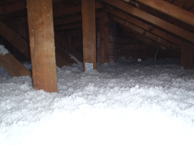 Example of an old home attic - After