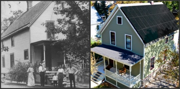 The historic home photos and the modern Zero Energy Home!