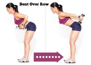 Bent Over Row - 10 Best Shoulder Exercises to Tone and Lose Arm Fat Fast