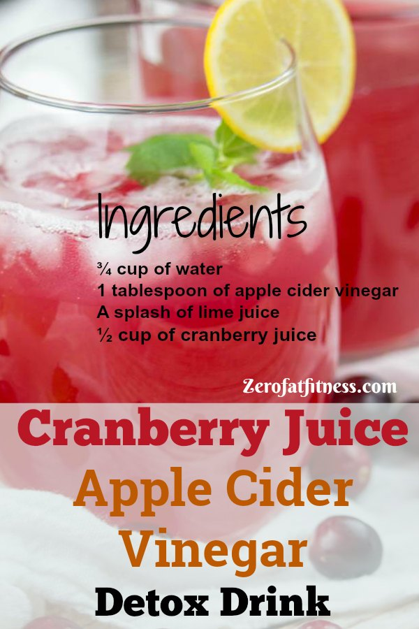Cranberry Juice Apple Cider Vinegar for Weight Loss Detox Drink