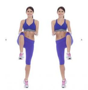 High Knees Exercise for Hourglass