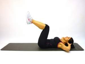 Knee-Up Crunches Exercise for Smaller Waist