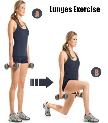 Lunges - 10 Best Belly Fat Burning Exercises for Flat Stomach