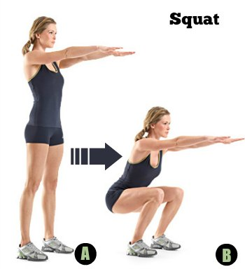 Squats - 10 Best Belly Fat Burning Exercises for Flat Stomach