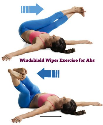 Windshield Wiper - 10 Best Belly Fat Burning Exercises for Flat Stomach