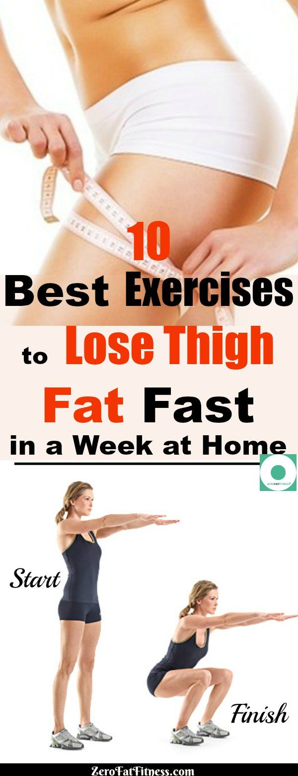 10 Best Exercises to Lose Thigh Fat Fast in a Week at Home