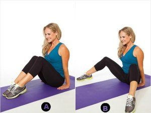 Seated Bent-Knee-7 Best Leg Exercises for Women at Home: Slim and Toned Legs