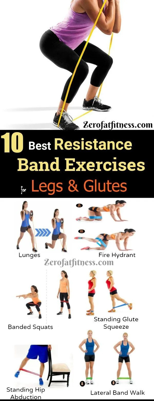10 Best Resistance Band Exercises For Legs And Glutes