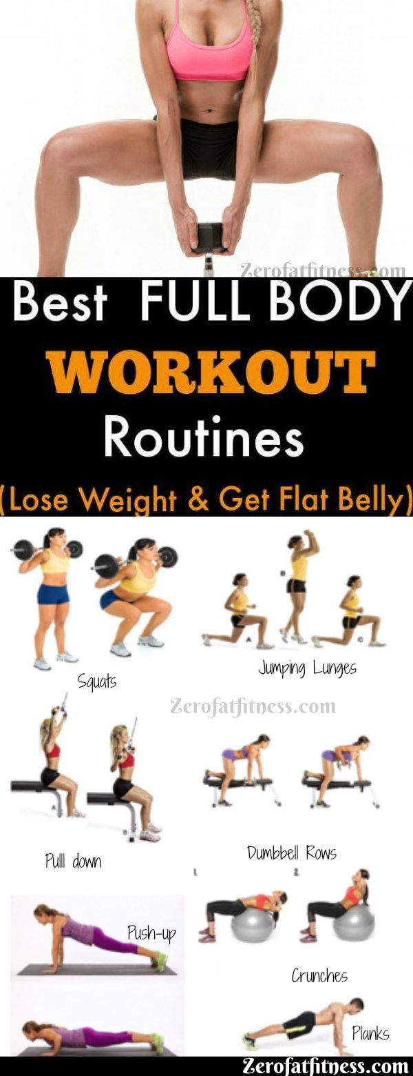 7 Best Full Body Workout Routines to Lose Weight and Get Flat Belly