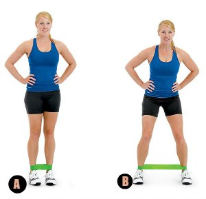 Lateral Band Walk- 10 Best Resistance Band Exercises for Legs and Glutes