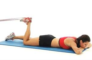 Prone Leg Curl- 10 Best Resistance Band Exercises for Legs and Glutes