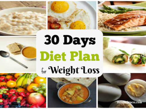 30 days diet plan for weight loss  healthy meal plan that