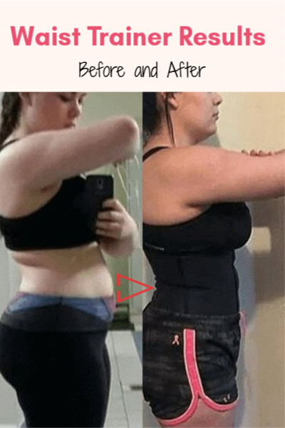 Waist trainer Results - before and after picture