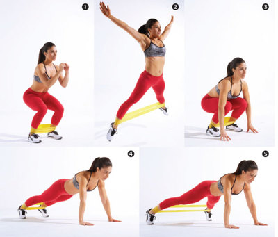 Burpees for belly fat