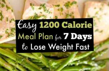 Easy 1200 Calorie Meal Plan for 7 Days to Lose Weight Fast