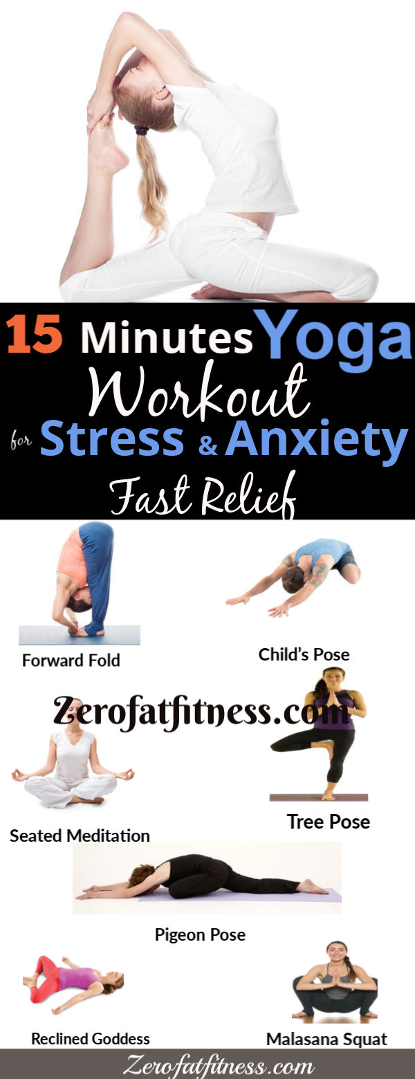 15 Minutes Yoga Workout for Stress, Depression and Anxiety Relief
