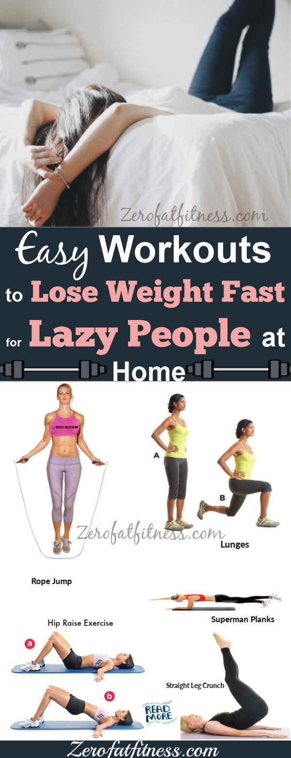 12 Easy Best Exercises to Lose Weight Fast for Lazy People at Home