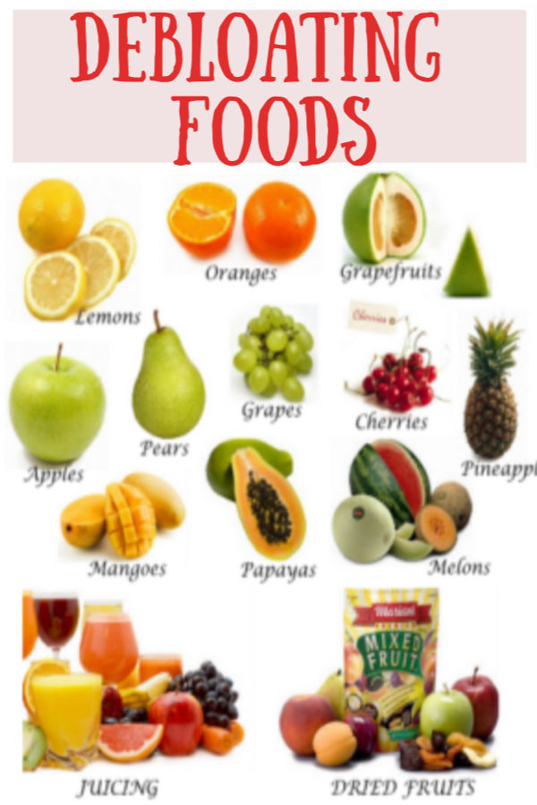 Debloating foods to get rid of bloating stomach