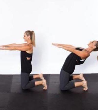 Camel Hinge- Yoga Workouts for Abs-10 Yoga Poses to Reduce Belly Fat Fast at Home