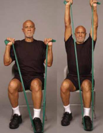 Seated Shoulder Press Chair Exercise