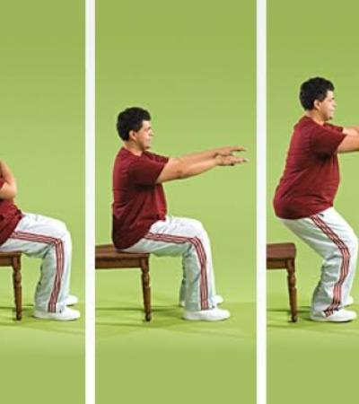 Sit-and-Stands chair exercise