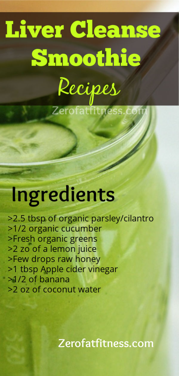 Liver Cleanse Smoothies Drink Recipes