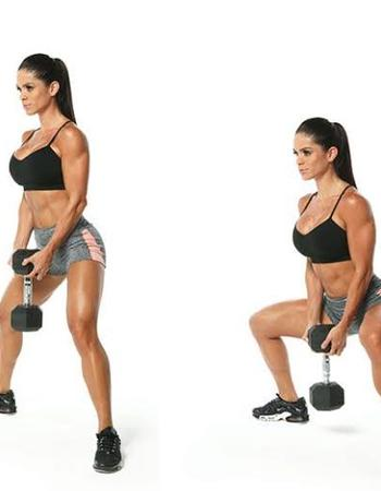 Sumo Dumbbell Squat